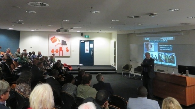 ANU Chancellor Prof. Evans delivers Africa Week Lecture
