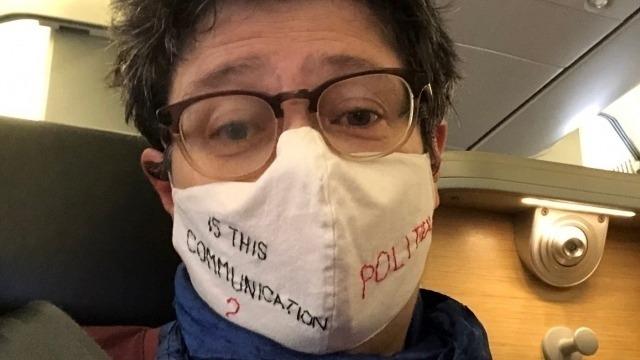 Prof. Sarah Joseph, wearing a mask