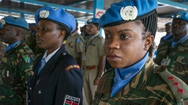 Female peace keepers